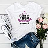 Birthday t-shirt for him and her/UNISEX model/Vintage 1980 / 18th, 21st, 30th, 40th, 50th, 60th, 70th, 80th, 90th birthday party shirt