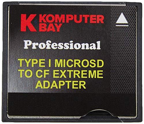 SDXC TF TO CF Compact Flash tipo 1 MEMORY CARD LETTORE ADATTATORE QUMOX DUAL PORT MICRO SD