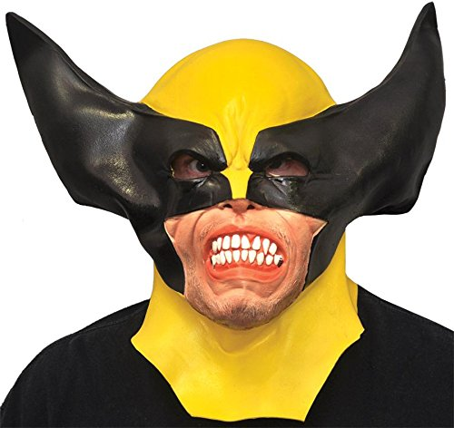x Maske Halloween Kostueme Maske Gesicht Maske Over-the-Head-Maske Kostuem Stuetze Scary Creepy Schreckliche Maske Latex Maske fuer Maskerade Make-up Party (Halloween Wolverine Kostüm)
