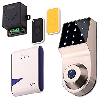 ZOTER® Wireless Door Access Control Code Password Keypad Doorbell Remote Control Security System Kit Set for Home Office