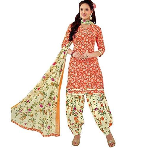 Lady Line Ethnic Printed Pure Cotton Salwar Kameez Patiala Salwar Suit /...