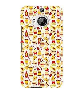 PrintVisa Designer Back Case Cover for HTC One M9 Plus :: HTC One M9+ :: HTC One M9+ Supreme Camera (orange purple sliver yellow maryoon)
