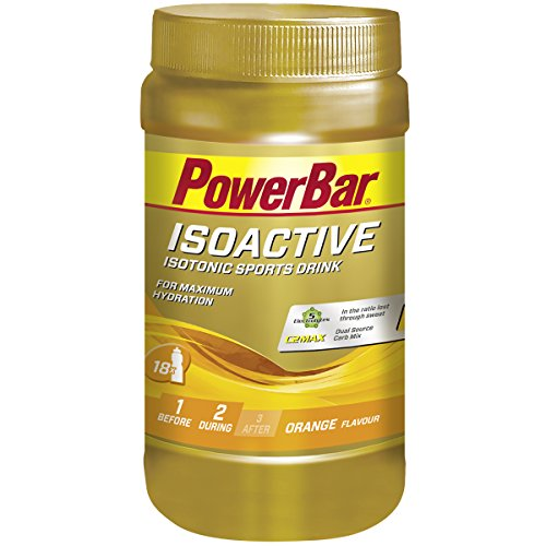 Powerbar Isoactive Isotonisches Sportgetränk (5 Elektrolyte und C2max Dual Source Carb Mix) Orange, 600g