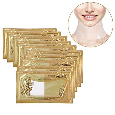 Mask, 10 Sheets Neck Mask Anti-wrinkles Collagen Neck Pads Patch Skin Whitening Firming Moisturizing Neck Lift Mask