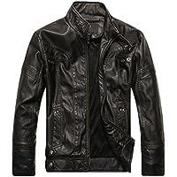 WanYang Para Hombre Chaqueta De Motorista Real Cuero Vendimia Top De Cuero De Abrigos De Moda Para Hombre Chaqueta Mens Fashion Jacket