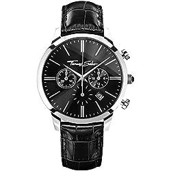Thomas Sabo Herren-Armbanduhr ETERNAL CHRONO Black Chronograph Quarz Leder WA0242-218-203-42 mm