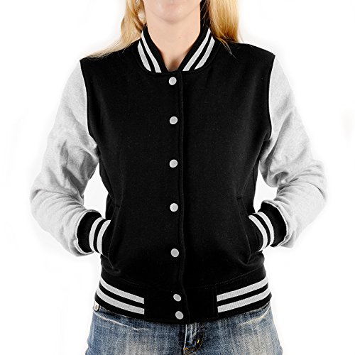 Damen College Jacke für Marilyn Monroe Fans – Tattoo Gangster Braut - stylische Trainingsjacke modernes Design mit coolem (Birthday Marilyn Monroe Kleid Happy)