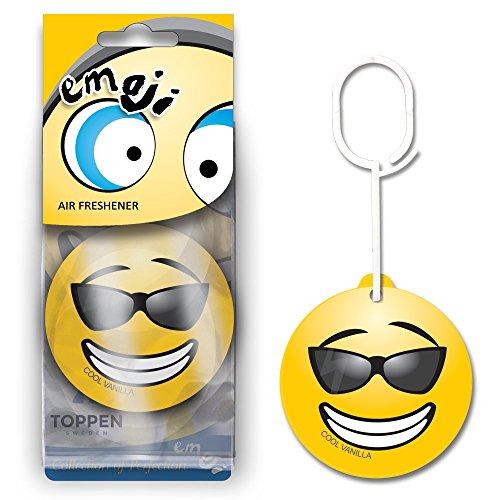 Preisvergleich Produktbild Auto Lufterfrischer in Emoji, Smiley – Automotive Lufterfrischer zum Aufhängen – Leistungsstark und langlebig und effektiv