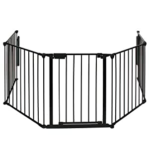 Infantastic fire guard 75 x 300 cm hearth safety gate - Grille protection poele ...
