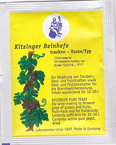 Kitinger Reinhefe trocken Rasse/Typ CHAMPAGNER ausreichend für 10-50 Liter - 5 g