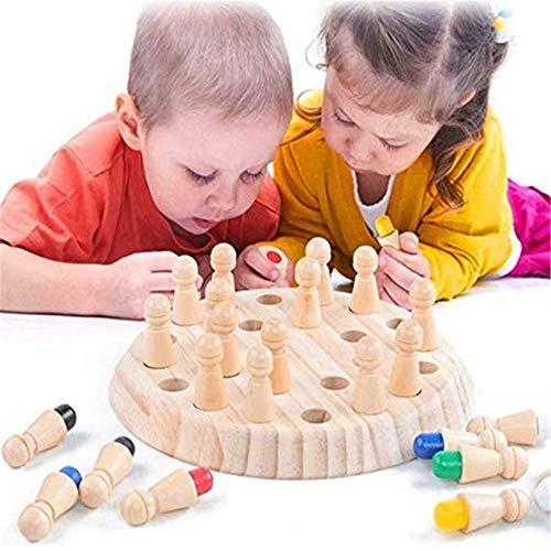 99native@ Jeux de mémoire en Bois pour Enfants et Adultes -2020 Newest Mémoire en Bois d'échecs...