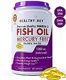 #6: Healthyhey Nutrition Fish Oil - Omega 3 Mercury Free (1000 Mg) 60 Softgel