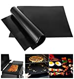 BBQ Grill Mat | 3 Pieces Baking Pad Mat for Charcoal Barbecue & Electric Gas Grills & Microwave Oven - Kitchen Outdoor Cooking Tool