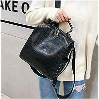 HUYHUY Huyhuyfashion Women Leather Backpacks New Crocodile Pattern Travel Backpack Rivet Shoulder Bag Backpacks For Girls School Bag Backpack