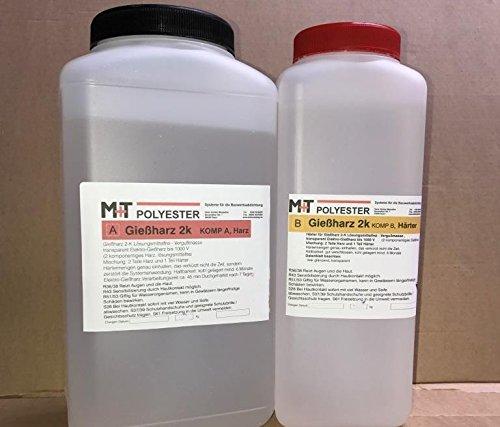Das ultimative glasklare Giessharz, 1,2 Kg Epoxidharz incl. Härter, transparent