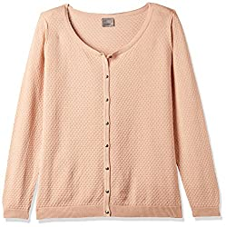 VERO MODA Womens Cotton Sweater (10137098_Rose Cloud_XL)