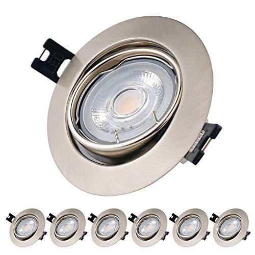 EACLL Foco Empotrable LED GU10 Blanco Cálido 2700K