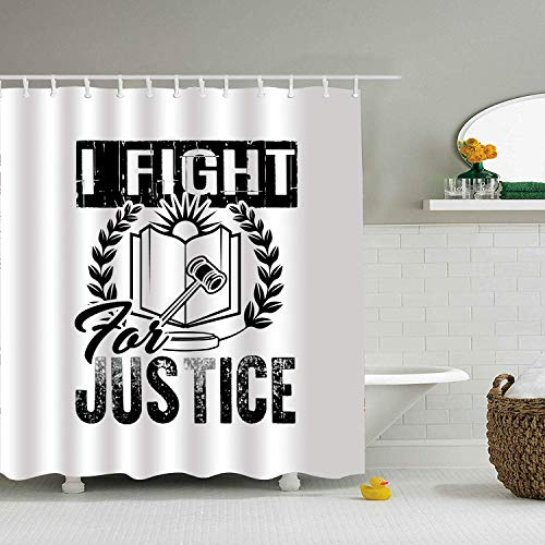 Eybfrre Cortina de la Ducha I Am A Lawyer Water-Repellent Bathroom Curtains Marriage Gifts for Men and Women 0J8774