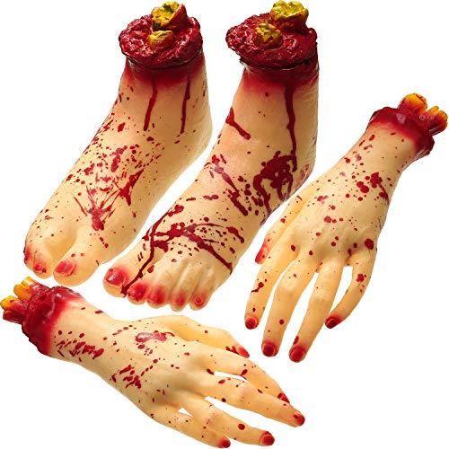 Unheimliche Kostüm Zu Machen - 4 Stücke Gefälschte Menschliche Abgetrennte Hände
