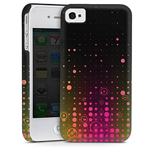 Apple iPhone 6 Housse Étui Silicone Coque Protection Rose vif Points Cas Premium mat