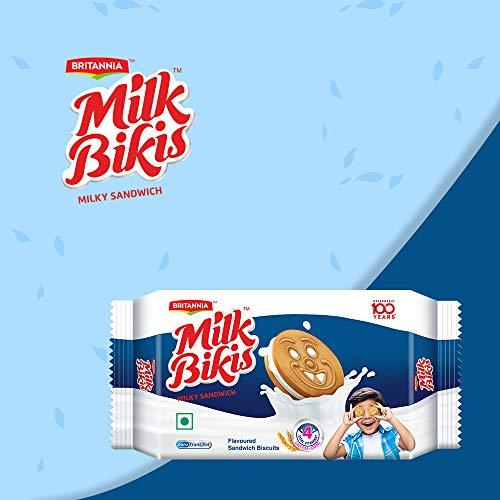Britannia Milk Bikis Cream, Milky Sandwich, 200g