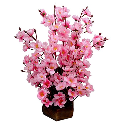 Sofix Beautiful Artificial Pink Flower Pot For Home decor Hotel Decor Office...
