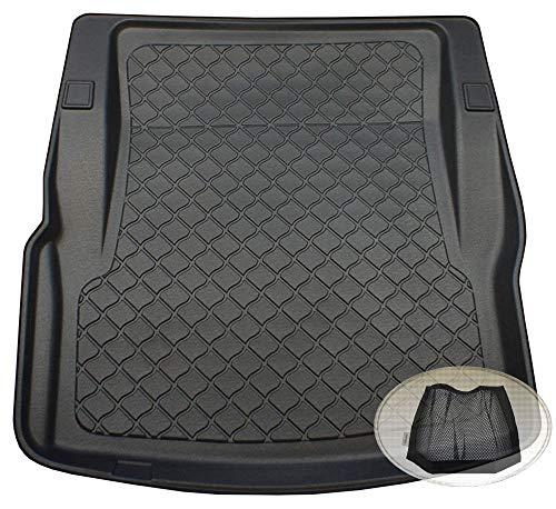 ZentimeX Z3113356 Gummierte Kofferraumwanne fahrzeugspezifisch + Klett-Organizer (Laderaumwanne, Kofferraummatte)