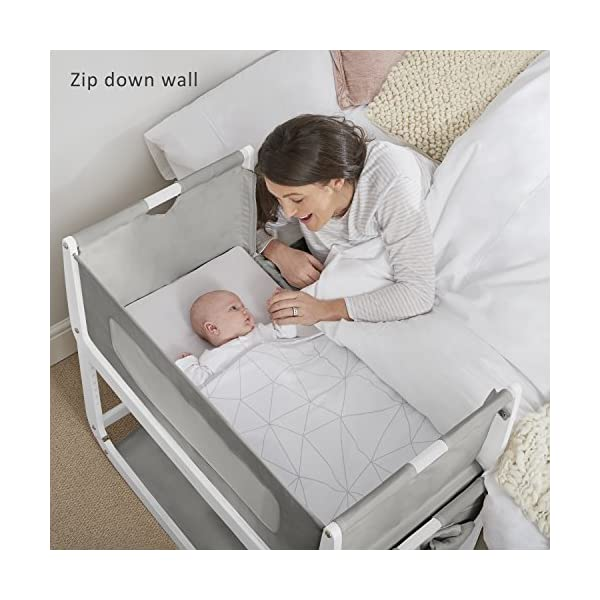 SnuzPod 3 Bedside Crib - Dusk Grey Snuz SnuzPod 3 has added functionality, a lighter bassinet and a more breathable sleeping environment. More than just a bedside crib; use as a bedside crib, stand alone crib or moses basket/bassinet. Simply attach the crib to your bed using straps provided (fits frame and divan beds) and your ready use as a bedside crib. The 9 different height settings allow you to ensure the crib is the right height for your bed (31-63cm) New! SnuzPod 3 now comes with an optional reflux function, by tilting the crib and setting an incline to reduce reflux symptoms little one can get a better nights sleep. 2