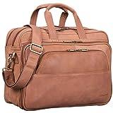 STILORD 'Artemis' Vintage Lehrertasche Leder Aktentasche Herren Damen Businesstasche groß für zwei Aktenordner 15,6 Laptoptasche Echtleder, Farbe:sattel - braun