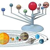 Neborn Nueve Modelos de Juguetes planetarios ensamblados Sistema Solar Instrumento planetario para niños Ciencia y Educación Juego de Juguetes DIY