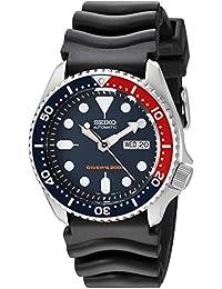 Seiko SKX009K1 - Reloj analógico de caballero automático con correa negra - sumergible ...