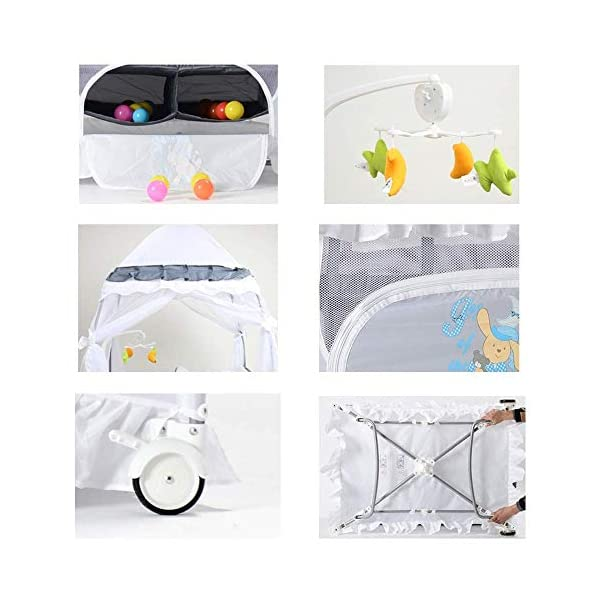 ZXCVB Multifunctional Crib Folding Crib Portable Baby Travel Bed for 0-3 Years Old Baby Multifunctional Folding Bedwith Travel Child Game Beds ZXCVB ◆Material: Made of oxford fabric, waterproof and sturdy, the bottom support is made of aviation steel tube, which is more stable and safe. The upper layer can bear 15kg and the lower layer bears 50kg. ◆Size:125*65*77cm ◆Creative Design:Put the bed on the bed of the room, so that the baby feels always accompanied by Mommy, and it feels like sleeping in the mother's womb, sleep better. The lower layer adopts the aviation cotton technology, which is comfortable and soft, protects the baby's spine health, and allows the baby to sleep peacefully. The gauze design can observe the baby's every move in 360°, ensuring that the air circulation can also protect the baby from mosquitoes. 5