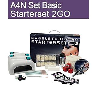 Aktive4Nails Nagestudio Starterset *BASIC* 2Go UV Gelset Nagelgel Set im Koffer Nailart