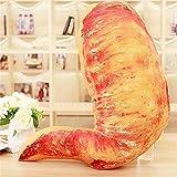 Mjia pillow Oreiller en Peluche,Coussin de Coussin de Jambe de Poulet de Nourriture Cadeau Doux de Relaxation d'enfant,Aile de Poulet,55 * 55cm