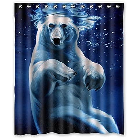 Dream esterni, colore: blu acqua, Orso polare Undersea Design-Tenda da doccia impermeabile, 152,40 cm (60