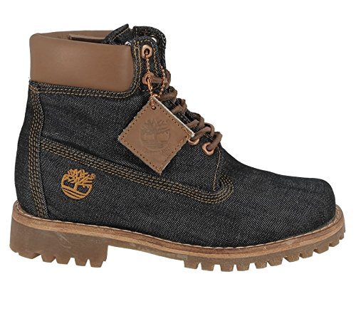 Timberland Unisex Adults  Heritage 6 in Fabric B3R Classic Boots  Blue  Navy   8 5 UK 43 EU