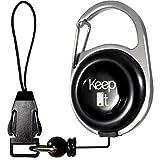 Festival-Gadget: JoJo Handysicherung mit Clip-Schnalle - Skater Equipment - Schlüssel und Ausweis-Hülle | Marke 'Keep It Reel' Schwarz - Ausrüstung