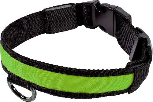 Smartfox leuchtendes LED Hundehalsband Sicherheitshalsband Halsband Licht, Größe XL, Grün