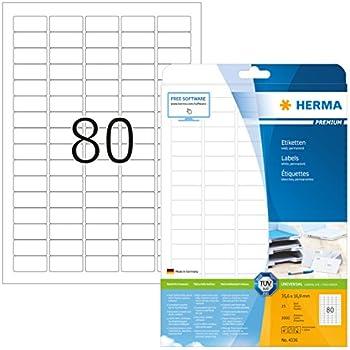 Herma Etiketten wei/ß Korrektur//Abdeckband 48,3x16,9mm Special A4