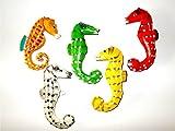 5er Set Seepferdchen Magnete - Seepferd Dekomagnete aus Holz, Holzmagnete, Geschenkidee, Deko,Sammelmagnet, Magnettiere