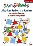 LernSpielZwerge Übungsbuch: Alles über Farben und Formen - Rätsel und Übungen für den Kindergarten