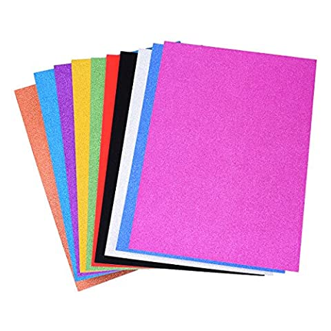 DIY Paper Craft Cardstock 20 Sheets for Card Making, TankerStreet Glitter Paper Craft Card 350gms (18 Stencil Fogli)