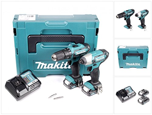 MAKITA CLX202AJ 10.8V (2) PIECE DRILL IMPACT DRIVER COMBO KIT LI-ION (Driver Drill Kit)