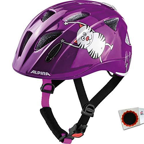 ALPINA Fahrradhelm Ximo Flash Gr.49-54cm Purple cat ca. 230g Fahrrad + Flicken