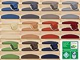 Kettelservice-Metzker Stufenmatten | Luxus Treppen-Teppich Vorwerk Toscana Halbrund SparSet Grau 14 Stück