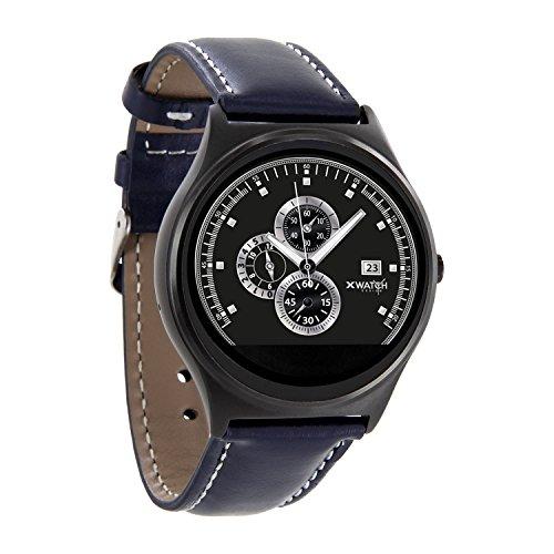 X-WATCH QIN XW PRIME II Navy blue - ultra slim Android und iOS Smartwatch - elegante Herren Smartwach