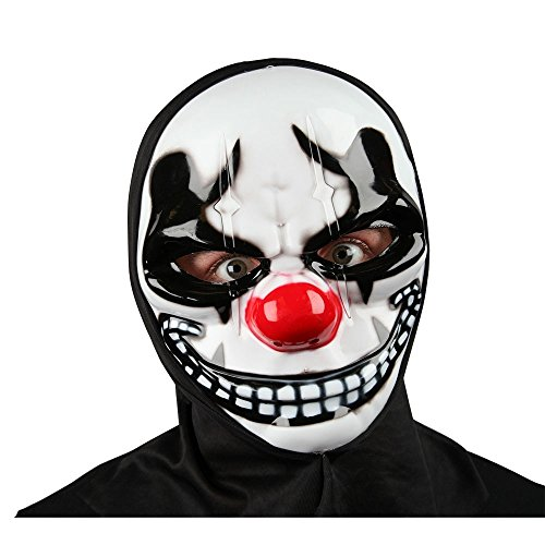 Freaky Clown Mask with Hood for Halloween fancy dress Accessory