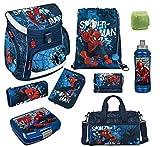 Familando Spiderman Schulranzen-Set 9-teilig mit Federmappe, Sporttasche und...