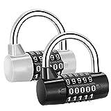 2pcs combinazione lucchetto a 5 cifre di sicurezza lucchetto per palestra a casa all'aperto capannone armadio per bicicletta valigia bagagli a zaino stoccaggio cassetta degli attrezzi armadi