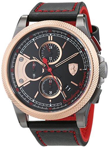 Scuderia Ferrari Hommes Chronographe Quartz Montre avec Bracelet en Silicone 0830313